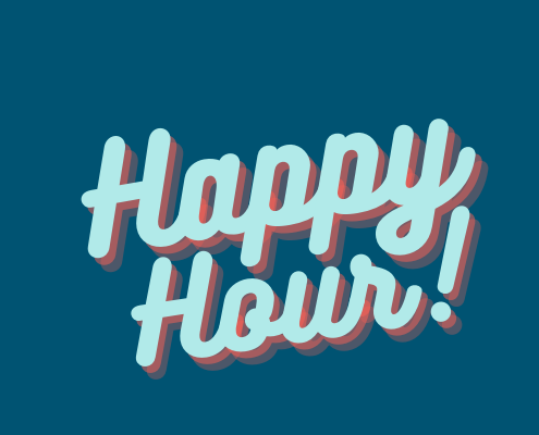 yoga teacher happy hour